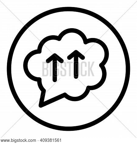 Repost Cloud Icon. Outline Repost Cloud Vector Icon For Web Design Isolated On White Background