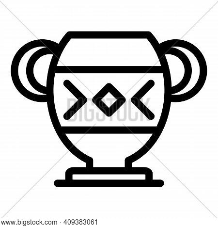 Antique Amphora Icon. Outline Antique Amphora Vector Icon For Web Design Isolated On White Backgroun