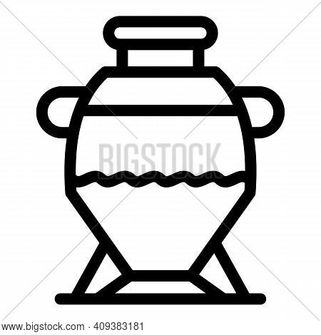 Craft Amphora Icon. Outline Craft Amphora Vector Icon For Web Design Isolated On White Background