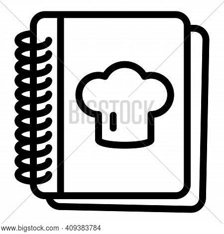 Recipe Book Icon. Outline Recipe Book Vector Icon For Web Design Isolated On White Background