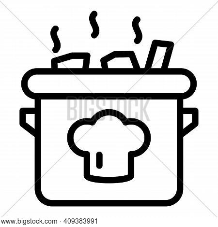 Food Pan Icon. Outline Food Pan Vector Icon For Web Design Isolated On White Background