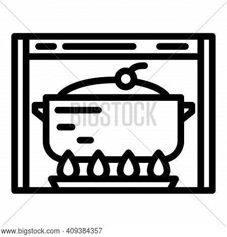 Cake Baking Icon. Outline Cake Baking Vector Icon For Web Design Isolated On White Background