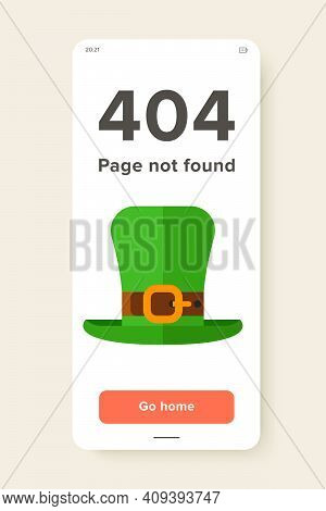 Vector Icon Of Green Leprechaun Hat With Buckle. St. Patricks Day, Souvenir, Folklore. Ireland Conce