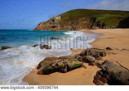 Portheras Cove Cornwall Cornish Coast South West Of St Ives