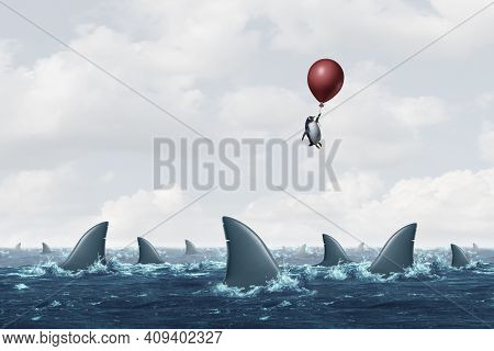 Overcoming Risk And A Concept Representing Difficulty And To Overcome A Difficult And Challenging Pr