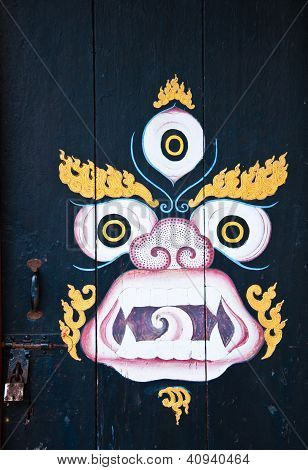Kylin Painting At Phelri Nyingmapa Monastery In Kalimpong