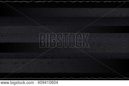 Glitch Retro Vhs Backdrop. Abstract Horizontal Noise With Glitched Lines. Analog Tape Distortions On