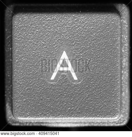 Letter A Key On Computer Keyboard Keypad