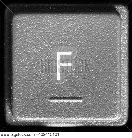 Letter F Key On Computer Keyboard Keypad