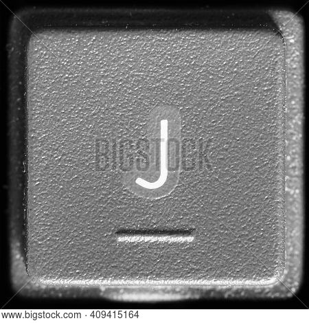 Letter J Key On Computer Keyboard Keypad
