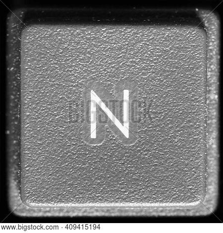 Letter N Key On Computer Keyboard Keypad