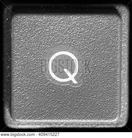 Letter Q Key On Computer Keyboard Keypad