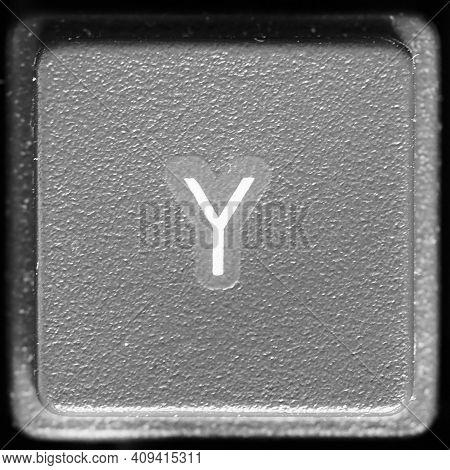 Letter Y Key On Computer Keyboard Keypad