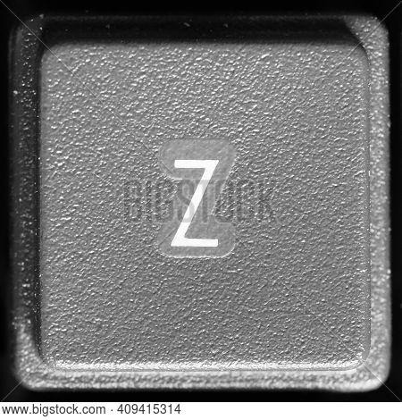 Letter Z Key On Computer Keyboard Keypad