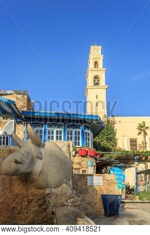 Tel Aviv, Israel - December 28, 2015: The Old Narrow Streets Of Jaffa