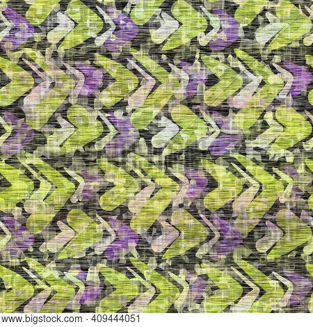Seamless Distressed Mottled Tie Dye Woven Texture Background.distressed Boho Blur Washed Pattern. Bl