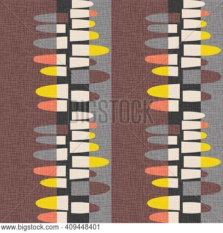 Seamless Abstract Mid-century Modern Pattern For Backgrounds, Fabric Design, Wrapping Paper, Home De