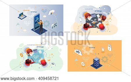 Industrial Internet Of Things 4ir Revolution, Ai, Iot Computerized Data Storage And Protection Manag