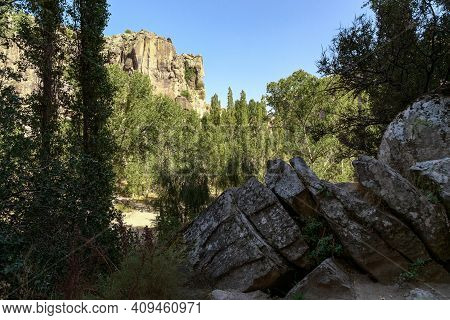 Ihlara, Turkey - October 5, 2020: This Is The Bottom Of A Canyon Of Volcanic Origin In Central Anato