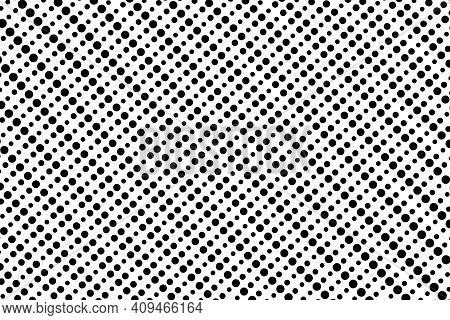 Pop Art Dots Background. Geometric Vintage Monochrome Fade Wallpaper. Halftone Black And White Geome
