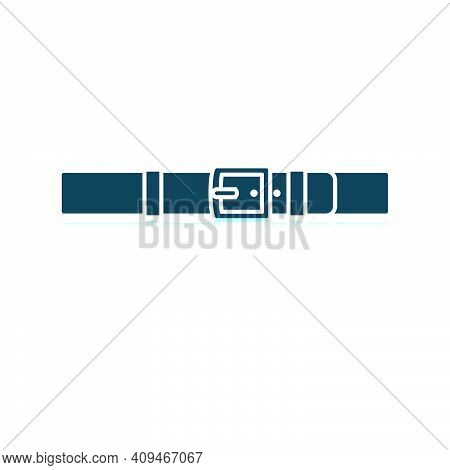 Trouser Belt Icon. Shadow Reflection Design. Vector Illustration.