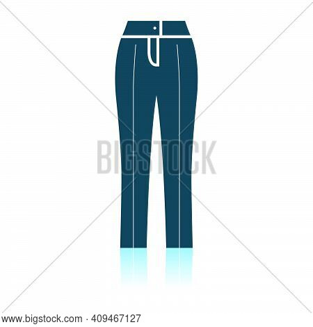 Business Woman Trousers Icon. Shadow Reflection Design. Vector Illustration.