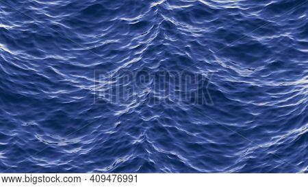 An ocean waves background texture 3D illustration