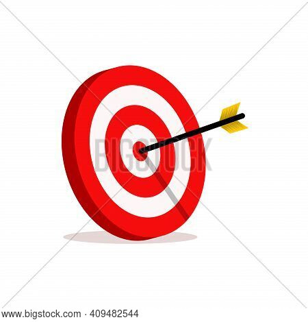 Target Icon. Abstract Target Vector. The Target For Archery Sports. The Target For Business Marketin