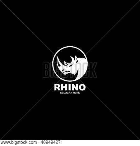Rhino Icon Isolated On Background From Africa Collection. Rhino Icon Trendy And Modern Rhino Symbol