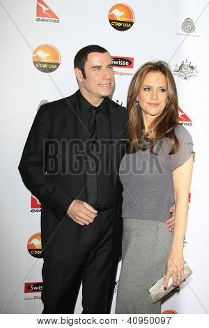 LOS ANGELES - JAN 12: John Travolta, Kelly Preston at the 2013 G'Day USA Los Angeles Black Tie Gala at JW Marriott on January 12, 2013 in Los Angeles, California