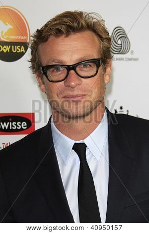 LOS ANGELES - JAN 12: Simon Baker at the 2013 G'Day USA Los Angeles Black Tie Gala at JW Marriott on January 12, 2013 in Los Angeles, California
