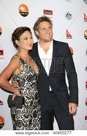 LOS ANGELES - JAN 12: Curtis Stone, Lindsay Price at the 2013 G'Day USA Los Angeles Black Tie Gala at JW Marriott on January 12, 2013 in Los Angeles, California