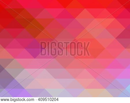 Triangular Pixelation. Multi-colored Pixel Background. The Texture Consisting Of Multi-colored Trian