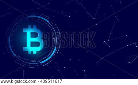 Bitcoin Blockchain Digital Coin Crypto Currency Concept Background