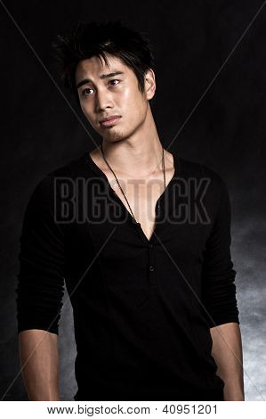 Handsome Asian American Man