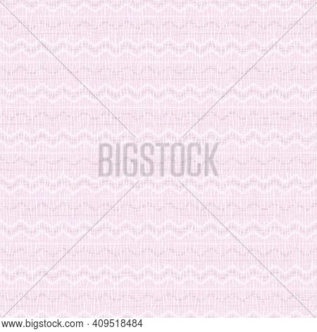 Square Seamless Background With Abstract Pattern. Light Pink, White Lines, Waves. Pale Pastel Colors