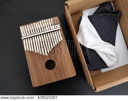 A Newly Purchased Kalimba Musical Instrument, African Musical Instrument Kalimba,