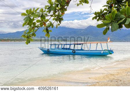 Gili Air Island In The Indian Ocean. 03.01.2017 The Vicinity Of The Ferry Pier.