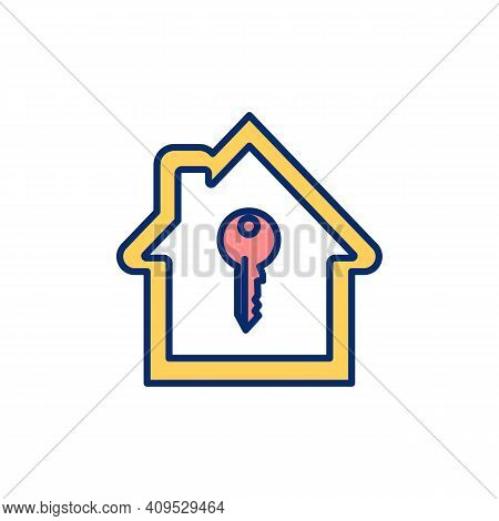 Renting Apartment Rgb Color Icon. House Hiring, Letting. Rental Property. Residential Real Estate. B