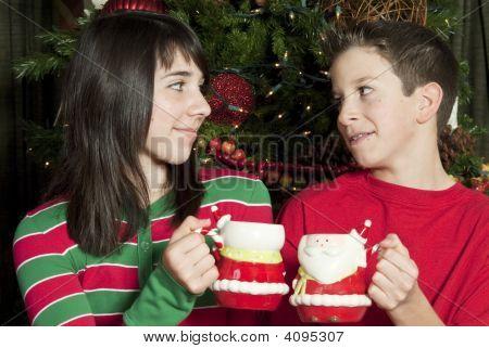 Sharing A Mug Of Hot Chocolate
