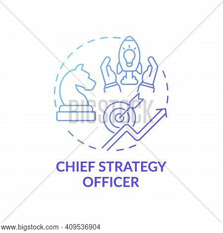 Chief Strategy Officer Concept Icon. Top Management Positions. Developing Corporation Initiatives. B