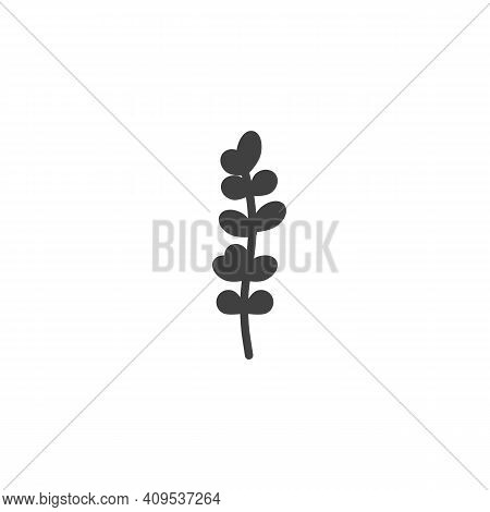 Thyme Leaves Vector Icon. Filled Flat Sign For Mobile Concept And Web Design. Thyme Plant Glyph Icon