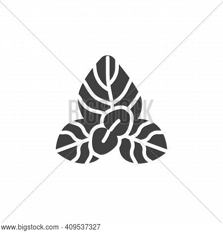 Oregano Herb Vector Icon. Filled Flat Sign For Mobile Concept And Web Design. Oregano Leaves Glyph I