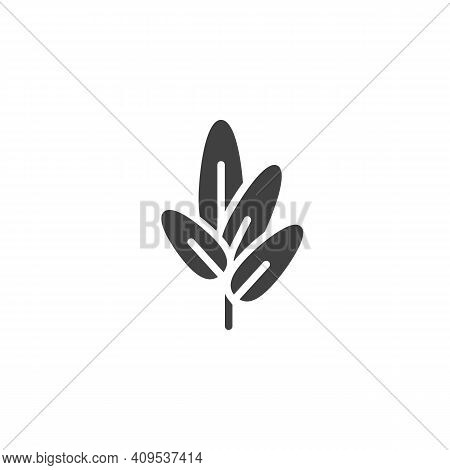 Sage Herb Vector Icon. Filled Flat Sign For Mobile Concept And Web Design. Sage Leaves Glyph Icon. S
