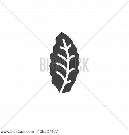 Bay Leaf Vector Icon. Filled Flat Sign For Mobile Concept And Web Design. Bay Herb Glyph Icon. Symbo