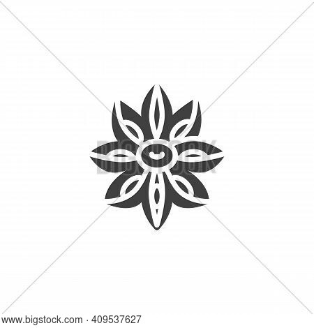 Anise Star Vector Icon. Filled Flat Sign For Mobile Concept And Web Design. Anise Herb Glyph Icon. S