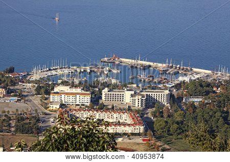Sea Port Of Kemer City, Turkey