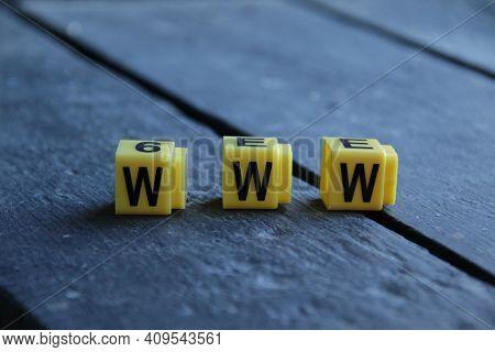 Www. Online Website Or Internet Vintage Creative Concept