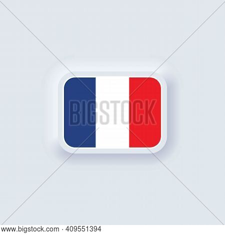 Flag Of France. National France Flag. French Symbol. Vector Illustration. Eps10. Simple Icons With F