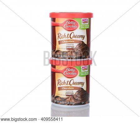 IRVINE, CA - January 05, 2014: Betty Crocker Rich and Creamy Chocolate Frosting. Betty Crocker is a brand name and trademark of General Mills.